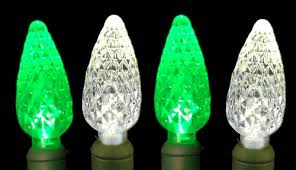 commercial c6 led 70 light white and green strawberry mini lights