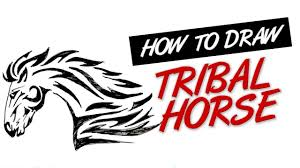how to draw tribal tattoo horse design 7 youtube