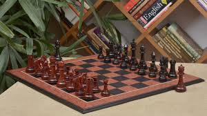 luxury chess set of french warrior luxury chess set in ebony bud rose wood