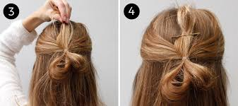 hair bow how to create a half up hair bow using your own hair more