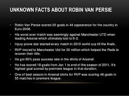 robin persie interesting facts