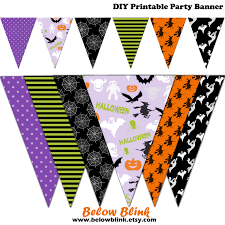 Halloween Banner by Halloween Banner Spooky Printable Banner Halloween Party