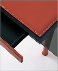 sous cuir bureau sous cuir bureau 625046 bureau en verre et cuir vente en ligne