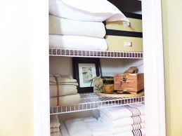 linen closet organization be my guest with denise