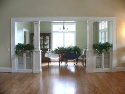 Living Room Cabinets Built In by Seperating A Living Room And Dining Room Built In Bookcases And
