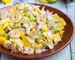 avocat cuisine recette de salade délice de mangue crevettes et avocat