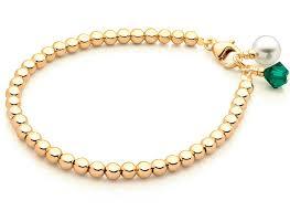tiny blessings 14k gold baby children s beaded bracelet