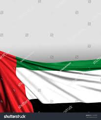 Colors Of Uae Flag Uae Flag United Arab Emirates Background Stockillustration
