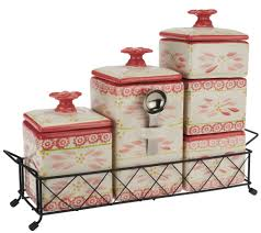 Red Ceramic Canisters For The Kitchen Temp Tations Old World 6 Piece Ceramic Canister Set Page 1 U2014 Qvc Com