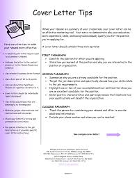 cover letter examples for resumes format