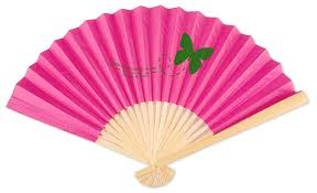 personalized wedding fans personalized front print paper fans palm and bamboo