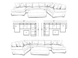 Sectional Sofas Dimensions Lane Jonah Casual 3 Piece Sectional Sofa With Blend Down Seats