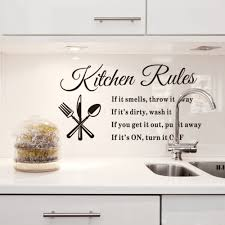 aliexpress com buy diy removable wall stickers kitchen rules