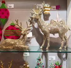 imports 20 champagne flat rhinestone deer set of 2