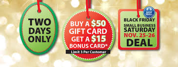 small business gift cards gift card bonus deal black friday small business saturday neu s