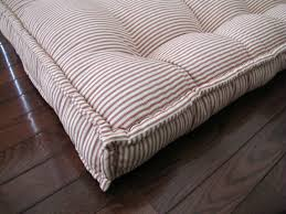 Daybed With Mattress Custom Cushions Ticking Stripe Mattress Quilting