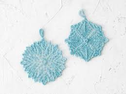snowflake ornaments by sunne meyer knitted ord