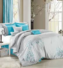 Turquoise Comforter Set Queen Turquoise And Grey Bedding Vnproweb Decoration