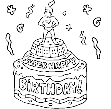 colour drawing free wallpaper happy birthday cake for kid