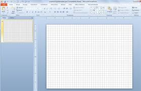 floor plan grid template 1 4 inch powerpoint template