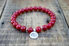 red bead bracelet images Spiritual yoga beaded stretch bracelet red coral with thai jpg