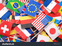 Flags Of The Wrld World Flagslittle Flags Different Countries Stock Photo 123716281