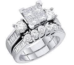 diamond wedding ring sets diamond bridal set 10k white gold engagement ring wedding ring