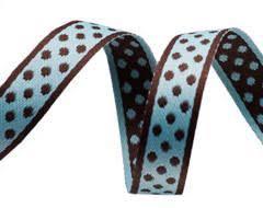 bulk ribbon buy ribbons blue small polka dots ribbon order now