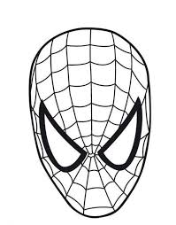 spiderman printable mask spiderman logo coloring pages