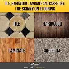 tile hardwood laminate and carpeting the on flooring