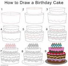 25 unique how to draw cake ideas on pinterest cake drawing