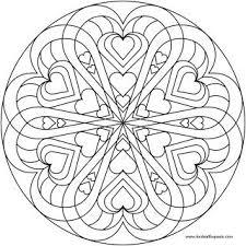 mandala coloring pages lots hearts mandala coloring pages