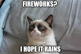 Fireworks Meme - how i feel when people start shooting off fireworks at midnight