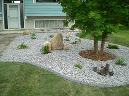 front yard rock landscaping front yard landscaping house design