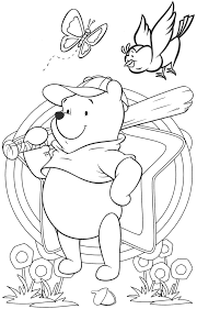 popular character free coloring activity winnie the pooh pitcher