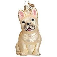 bulldog ornament black and white