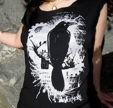 nevermore raven t shirt edgar allan poe women u0027s t shirt