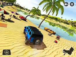 yellow jeep on beach water surfer jeep driving beach car racing android apps on