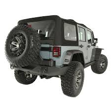 jeep wrangler grey rugged ridge 13742 01 sailcloth soft top black diamond 10 15