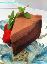 nutella cream cheese chocolate cake piece of cake my sweet zepol