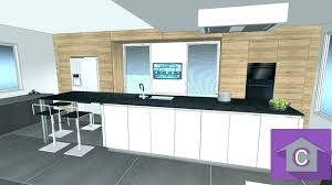 cuisine avec ilot central et table cuisine avec ilot central et table aussi caisson cuisine caisson