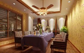 Ceiling Fan With Pendant Light 3d Living Dining Room Ceiling Fan And Pendant Lights 3d House