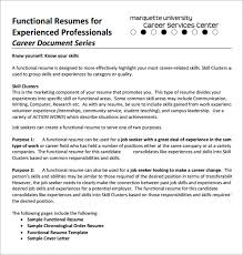 functional resume template free functional resume dummies job