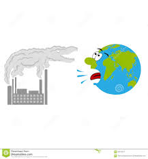 pollution on cartoon planet stock images image 13549384