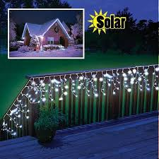 solar powered led outdoor decoration icicle lights