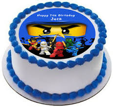 ninjago cake toppers ninjago personalized cake topper icing sugar paper 7 5