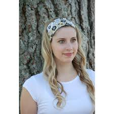 women s wide cloth headbands pretty yellow white floral headbands
