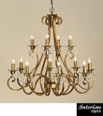 Chandelier Antique Brass Interiors 1900 U0027oksana U0027 12 Light Chandelier Antique Brass