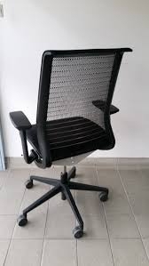 used 3d think mesh operators chair by steelcase lam office