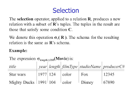 operations in the relational model these operation can be